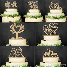 Mr And Mrs Rustic Wedding Cake Topper Laser Cut Wood Letters