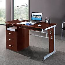 Techni Mobili Desk W Retractable Table by Techni Mobili Complete Computer Workstation With Cabinet And