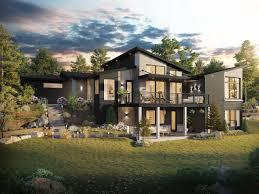 Modern Houseplans Downhill House Plans Modern House Plans By Stewart