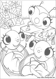 Miss Spider Coloring Picture