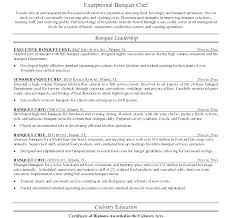 Chef Resumes Best Of Sous Cover Letter Executive Resume Job Objective Examples