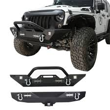 07-18 Jeep Wrangler JK& Unlimited Front And Rear Bumper W/ D-Rings ... Jeep Truck Must Have Lots Of Aftermarket Parts Its A Beauty And I 4765 Willys Truck Rear Axle Dana 53 538 Gear Ratio Pickup 43 Napa Auto Parts On Twitter Are You Looking For The Best Holiday Your Accsories Superstore In Miami Florida Smittybilt Offroad Caridcom Gladiator 4 Door Cheap J For With Vintage Schaper Stomper 4x4 Brown Honcho Rugged Ridge Introduces All New Armor Fenders 072016 100 Makes Models Interior Exterior St James 2009 Wrangler Door