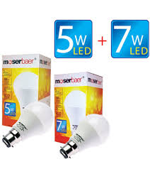 5w and 7w eco led bulb b22 pack of 2 cool white at rs 155