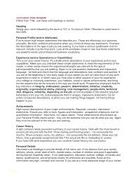 Profile Examples Resume Effective Resumes Samples And Personal For