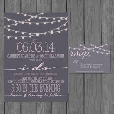 Reception Only Invitation Template Printable Rustic Mason Simple Wedding Modern Strings Of Lights Engagement