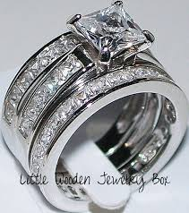 Wedding ring Contemporary Ring Wedding Elegant Princess Cut Diamond