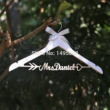 Personalized Wedding Hangerarrow Hanger Rustic Dress Custom Wood Bridal Name In Party DIY Decorations From Home Garden On