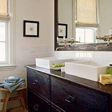 coastal living overmount double bathroom sinks black chest