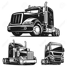 100 Cool Truck Pics Black And White Illustration Vector Royalty Free Cliparts