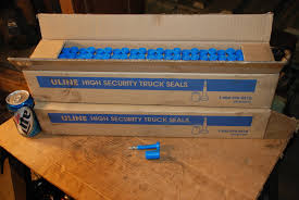 Unused Lot Of 96 H 435BLU Uline High Security Truck Seals