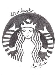 Starbucks Coffee Logo Drawing By WeirdAsianKittyGirl