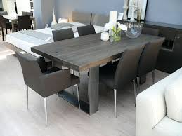Modena Solid Wood Dining Table Grey Room Furniture Fabric Chairs Metal