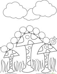 Preschool Coloring Worksheets Caterpillar Page