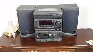 vintage aiwa nsx 810 single disc cd dual cassette deck player