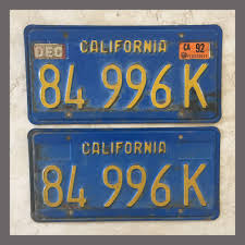 1970 - 1980 California YOM License Plates For Sale - Original ...