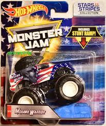100 Mohawk Warrior Monster Truck HOT WHEELS MONSTER JAM STARS AND STRIPERS COLLECTION STUNT RAMP
