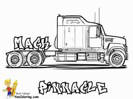 100 Awesome Semi Trucks Trucking Pages Lego Peterbilt Impressive Truck Coloring Stock