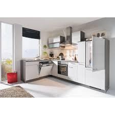 winkelküche eiche weiß eiche grau nachbildung ca 185 x 305 cm