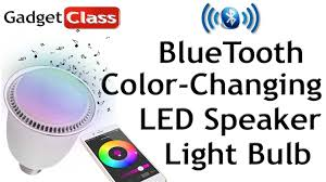 review led color changing light bulb w bluetooth speaker