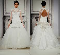 2016 vintage pnina tornai lace long sleeves ball gowns wedding
