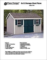 8x12 Storage Shed Blueprints by 8 U0027 X 12 U0027 Gable Storage Shed Project Plans Design 10812