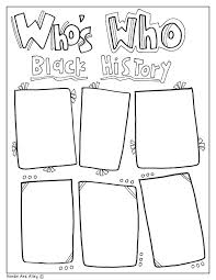 Black Coloring Pages History Month Printable Beautiful Panther Civil