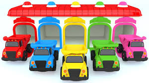 Colors For Children To Learn With Color Dump Truck Toy - Colours For ...