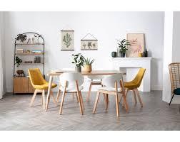 skandinavische stühle aus weißem und hellem holz 2er set