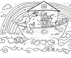Noahs Ark Coloring Page 7408