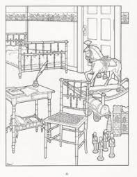 Boys Room In Victorian House Difficult Coloring Pages For Adults