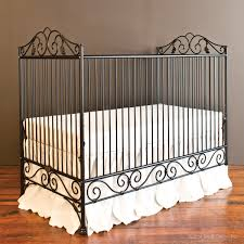 Bratt Decor Crib Skirt by Casablanca Crib Distressed Black