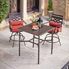 wicker bar height patio set patio patio bar table and stools outdoor bar stools set of 4