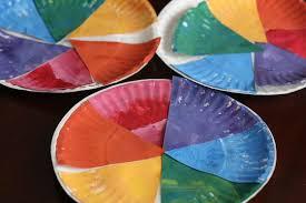 3 Paper Plate Colour Wheels