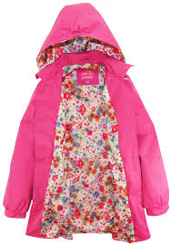 pink platinum big girls ruffled trench coat jacket with floral