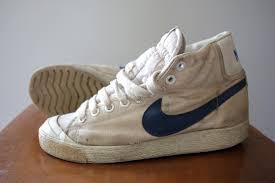 Vintage Canvas Nike Hi Top Sneakers Size 4