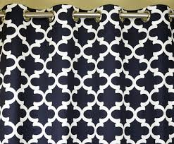 Moroccan Lattice Curtain Panels by Navy Blue White Fynn Quatrefoil Moroccan Curtains Grommet