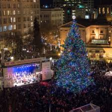 The Day After Thanksgiving Thousands Of Portlanders Will Gather At Square To Celebrate Lighting Spectacular 75ft Douglas Fir Tree Provided