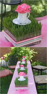 Fun And Inexpensive Centerpieces Using Wheat Grass Start Now Enjoy A Beautiful Easter Table