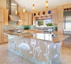 Under Water Kitchen Island Glass From England Backlit