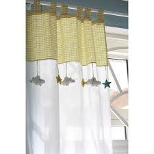 rideaux chambre bébé rideau à passants en coton blanc jaune 110 x 250 cm coton blanc