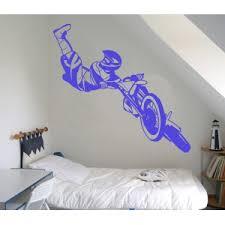 stickers mural deco géant pas cher moto cross enduro