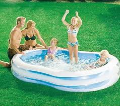 Walmart Has This 87 X 525 Transparent Inflatable Family Swimming Pool On Sale Clearance At 1000 You Can Pay To Have It Shipped Your House OR