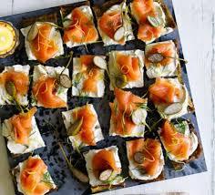 canape recipes potato cakes with smoked salmon cheese recipe food