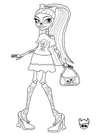 Printable Coloring Sheets Monster High Pages Free Page