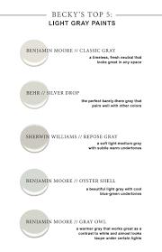 Most Popular Living Room Colors Benjamin Moore by Becky U0027s Top 5 Gray Paint Light Grey Paint Colors Benjamin