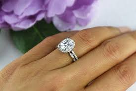225 Ctw Oval Wedding Set Vintage Style Engagement Ring Man Made Diamond Simulants Art Deco Band Halo Sterling Silver