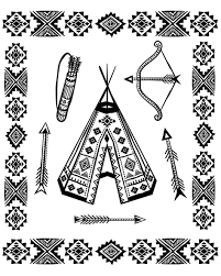 Powhatan Coloring Pages Page Native American To Print Adult Sheet