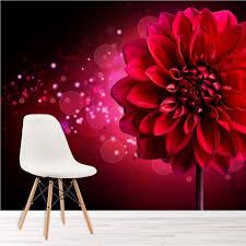 dahlie blume fototapete rot rosa blumen tapete mädchen schlafzimmer foto dekor