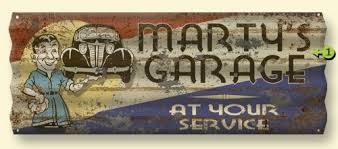 Vintage Style Personalized Garage Sign