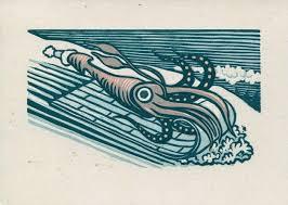 The Making Of A Multi Color Linoleum Block Squid